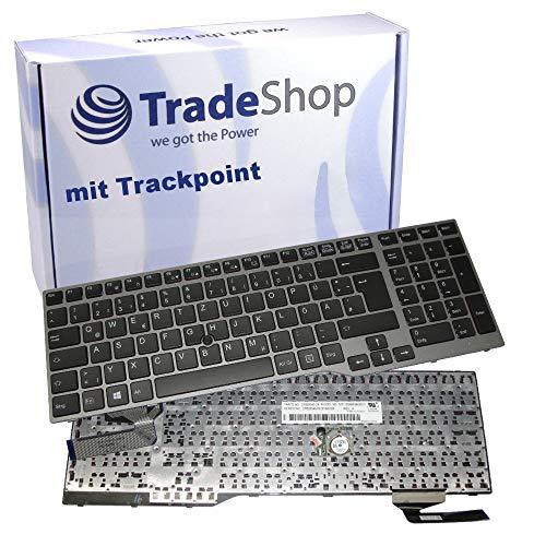 Original Laptop Tastatur/Notebook Keyboard Deutsch QWERTZ für Fujitsu LifeBook E753, E754, E756, E554, E557 / mit Rahmen, mit TrackPoint