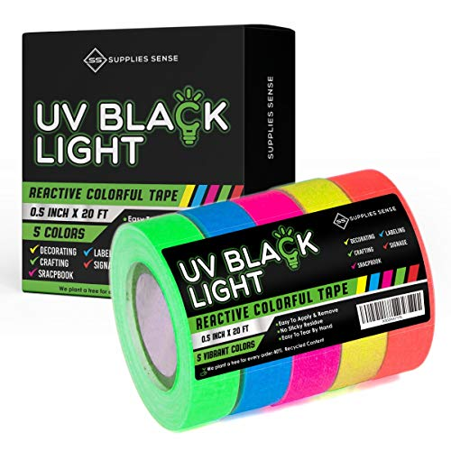 Glow in the Dark Tape (35 ft x 1 in) - Glows Brighter and Lasts Longer - Non-Toxic, Pet-Friendly, Residue-Free - Safe for Walls and Floors - Perfect for Parties, Costumes, Decorations and Dance Floors