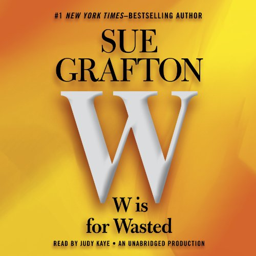 W Is for Wasted audiobook cover art
