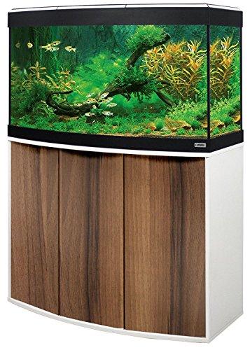 Aquariumkombination FLUVAL Vicenza Noce Tiepolo 180 mit LED-Beleuchtung, Heizer, Filter und Unterschrank braun-weiß