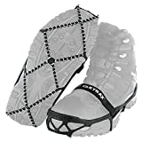 Yaktrax Pro Traction Cleats for Walking, Jogging, or Hiking on Snow and Ice (1 Pair), Medium , Black
