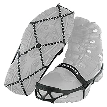 Yaktrax Pro Traction Cleats for Walking Jogging or Hiking on Snow and Ice  1 Pair  Medium  Black