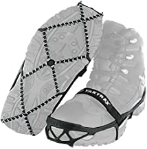 Yaktrax Pro Traction Cleats for Walking, Jogging, or Hiking on Snow and Ice (1 Pair), Large , Black