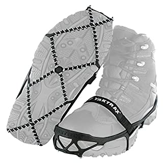 Yaktrax Pro Traction Cleats for Walking, Jogging, or Hiking on Snow and Ice (1 Pair), Medium , Black (B0094GO6ZG) | Amazon price tracker / tracking, Amazon price history charts, Amazon price watches, Amazon price drop alerts