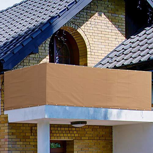 Balcony Privacy Screen,Garden Awnings Protector Cover for Porch Deck,Outdoor, Backyard, Patio, Balcony to Cover Sun Shade