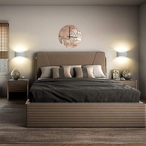 Apliques de pared yeso, 7W Blanco Cálido LED Modernos Bañadores de Pared Interior para sala de estar, dormitorio, pasillo (Incluye bombilla LED G9)