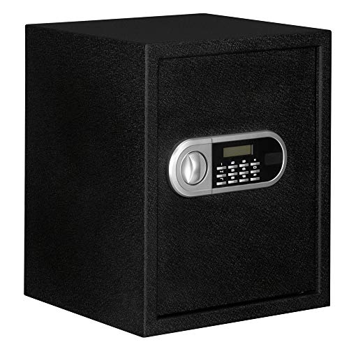 Home Office Electronic Digital Safe Box Steel Security Fireproof Waterproof File Cabinet Safe Lock Box store various valuables such cash documents passports jewelry 13.8 x 13 x 16.5''