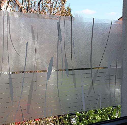 LINEA Fix Dekorfolie - statische Fensterfolie - Schilf Marismas - 150 x 46 cm