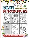 Gran Colorear De Dinosaurios - 30 Dibujos De Dinosaurios Para Colorear: Gran Dinosaurio TYREX, DIPLODOCUS, STEGOSAURUS, TRICERATOPS | Paisaje Jurásico a Colorear (Spanish Edition)