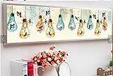 DIY 5D Pintura Diamante Kit Grande Completo Punto Cruz Bordado Adultos Niño Rhinestone Puzzle Arte Craft Home Pared Decor Bombilla de dibujos animados Taladro Redondo 30x70cm Y11658