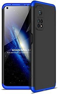 جي كي كي غطاء حماية 360 درجة لجوال شاومى مى 10 تى / مى 10 تى برو (Xiaomi Mi10T / Mi 10T Pro 5G) - أسود وازرق