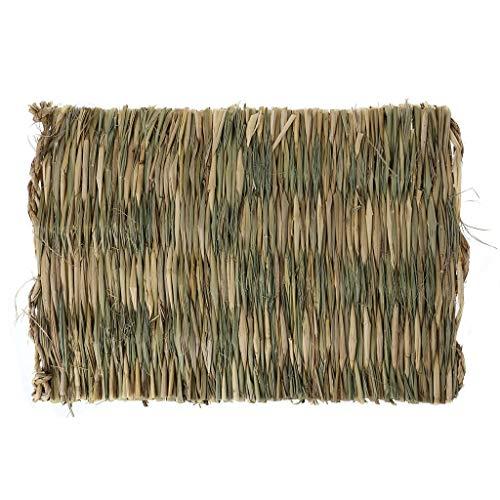 Alfombrilla para masticar hierba de conejo, hámster de animales pequeños, jaula para conejillo de indias, cama, almohadilla para la casa