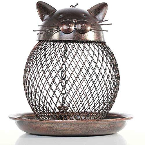 Zhuowei Birdcage, utilisé pour l'extérieur Balcon de la Maison en métal à accrocher, sans Support, terrasse de Jardin, Mini décoration Nature Jardin nichoir avec nids de Bricolage,1