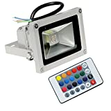 PickTheDeal 10W RGB LED Waterproof Flood Light with Remote Control 16 Color (White)
