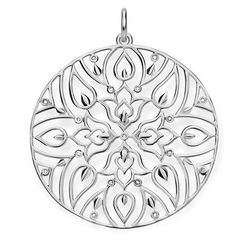 THOMAS SABO Damen-Anhänger Ornament 925 Silber Diamant (0.2 ct) weiß - D_PE0003-725-21