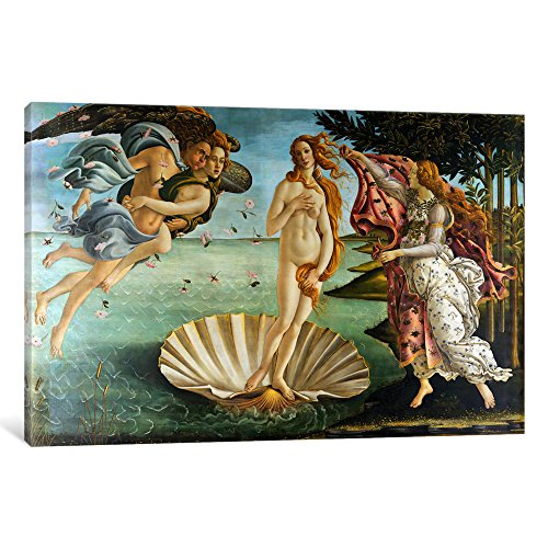 iCanvasART The Birth of Venus by Botticelli Sandro Canvas Art Print, 26 by 18-Inch