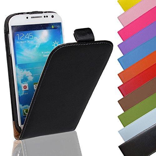 Eximmobile - Flip Hülle Handytasche für Sony Xperia E1 in Schwarz | Kunstledertasche Sony Xperia E1 Handyhülle | Schutzhülle aus Kunstleder | Cover Tasche | Etui Hülle in Kunstleder