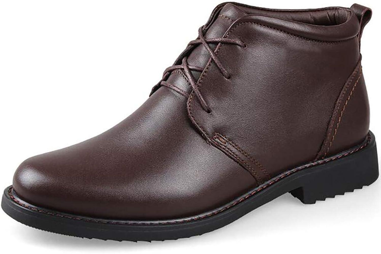 Men's Business Casual shoes Men's Cotton shoes High shoes Plus Hair Warm Men's shoes Large Size shoes (color   A, Size   43)