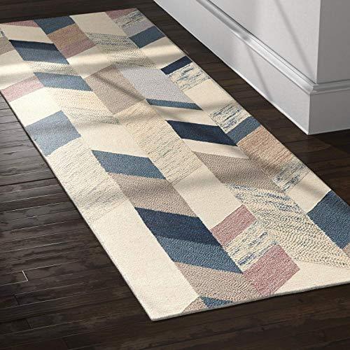 Amazon Brand  Rivet Modern Geometric Wool Runner Rug, 2' 6