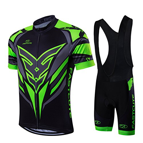 RUIKODOM per Uomo Abbigliamento Ciclismo Set Nuova Collezione Estivo Abbigliamento sportivo per Bicicletta Maglia manica corta Pantaloni salopette