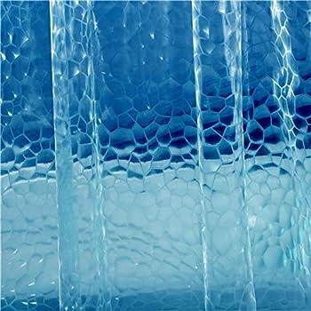 shower curtain liner blue