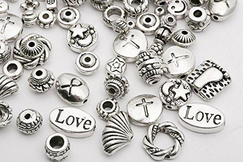 ILOVEDIY 45g Perles LOVE en d'argent Compatibles avec les Bracelets de Européens