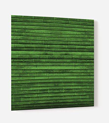 'Boden für Dunstabzugshaube MDF Holz Composite Aluminium oder Kredenz-Küche bereit Stellen mit Doppelseitiges Klebeband Bambus Grün–Dicke 3mm–[Kunstdruck Wand®] L. 60 x H. 70 cm