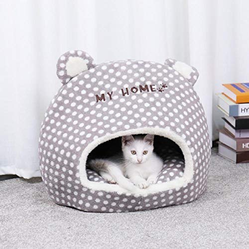 BACKZY MXJP Hundehütte Warmes Haustier Katzenhaus Höhlenbetten Welpen Hund Schlafsack Mit Abnehmbaren Kissen Schnitt Design Für Katzen Welpen Haustier Bett