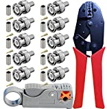 RG59 Set di utensili a crimpare - Kagni BNC/TNC Pinza a crimpare rullata e spelafili a cav...