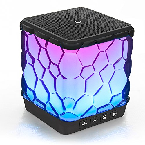 AOMAIS Star Bluetooth Speakers, Wireless Ultra Portable Color Changing LED Light Speaker with 7 Color LED Themes for Home Party, Outdoors, Backyard