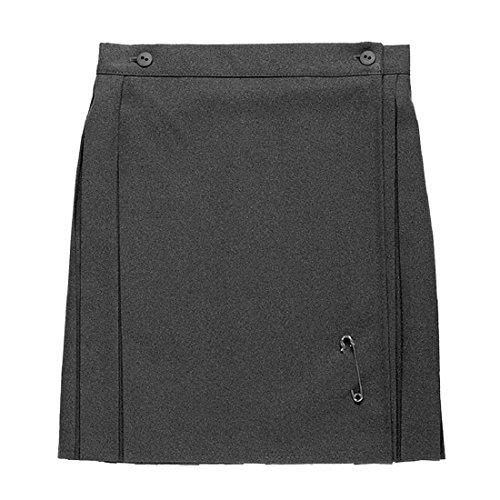 Ozmoint Falda de uniforme escolar para niñas, falda fruncida con espalda plisada, color gris y azul marino (3-16 años)