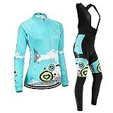 (Cojín 3D)(c1 tamaño:M) sudo manga maillot rendimiento Moda rompevientos transpirable los para chaleco larga Jerseys ciclismo mujer ropa de