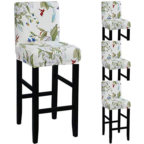 TFlower - 4 coprischienale per sgabello da bar con schienale estensibile, per sala da pranzo, protezione per sgabello da bar, #4