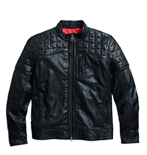 Harley-Davidson Quilted Lambskin Leather Jacket 97121-16VM Outerwear