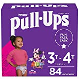 Pull-Ups Girls' Potty Training Pants Training Underwear Size 5, 3T-4T, 84 Ct