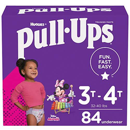 Pull-Ups Girls' Potty Training Pants Training Underwear Size 5, 3T-4T, 84 Ct
