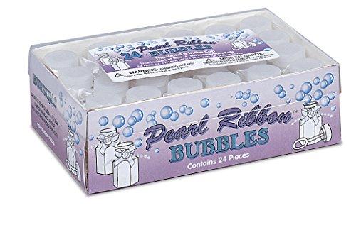 White Bubble Bottles Wedding Party Favor, 0.6 oz, 24 Ct.