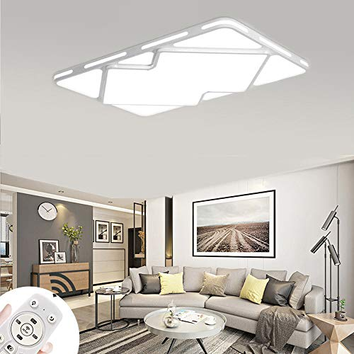 MIWOOHO 78W Dimmbar LED Deckenleuchte Modern Deckenlampe Schlafzimmer Küche Flur Wohnzimmer Lampe Wandleuchte Energie Sparen Licht [Energieklasse A++]