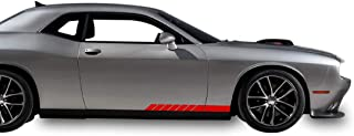 Bubbles Designs 2X Decal Sticker Vinyl Rocker Side Door Stripes Compatible with Dodge Challenger SE, R/T, SRT8 and SXT