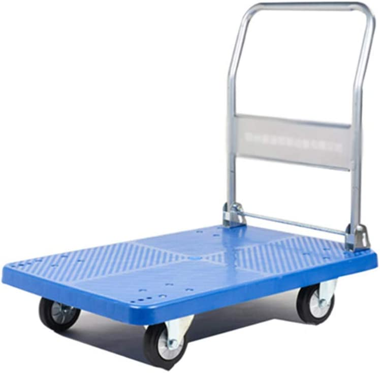 Household items Folding Max 52% OFF Silent Gifts Flat Warehouse Four-Whee Trolley