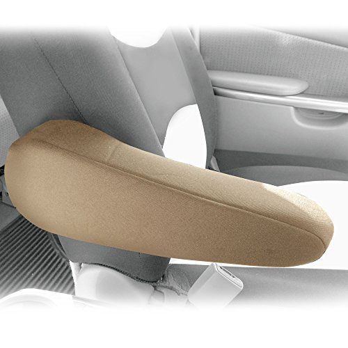 FH Group FH1051BEIGE FH1051 Armrest Cover Semi-Universal (Flat Cloth Fabric- One Pair Beige)