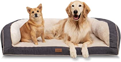 EMME Dog Bed for Small, Medium and Large Dogs Orthopedic Dog Beds with Plush Foam Mattress Joint Relief Washable & Removab...