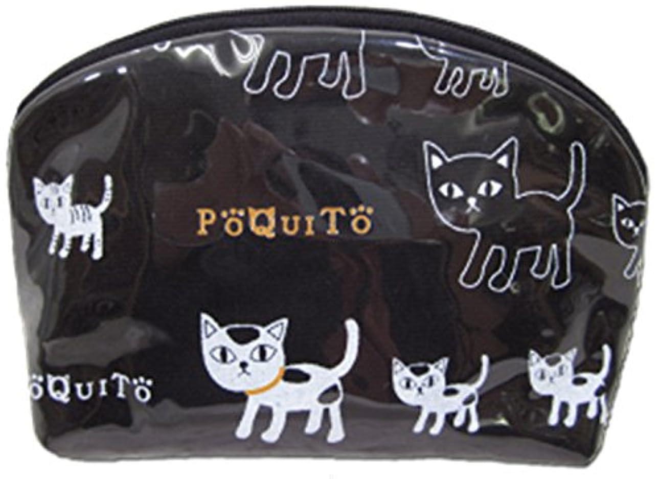 スピン何でも意気消沈したGV 猫グッズ ポーチ ポキート A ブラック 537331