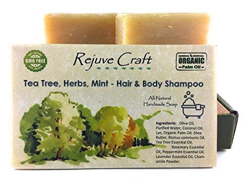 Rejuve Craft Hair and Body Shampoo 2 pack Tea Tree Mint