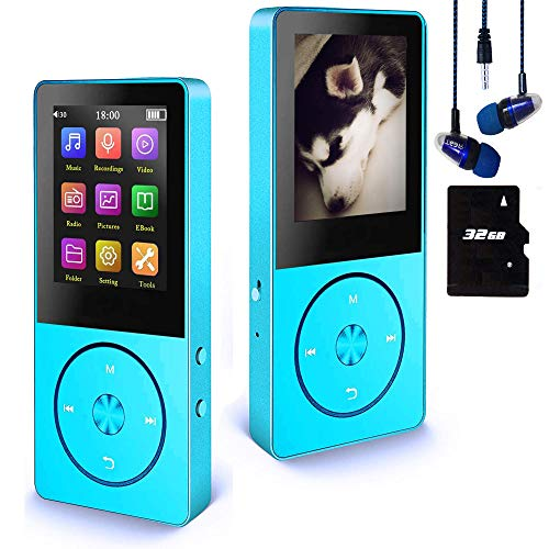 Mp3 Player / Mp4 Player, Hotechs MP3 Music Player with 32GB Memory SD Card,Build-in Speaker with FM Radio, Voice Record