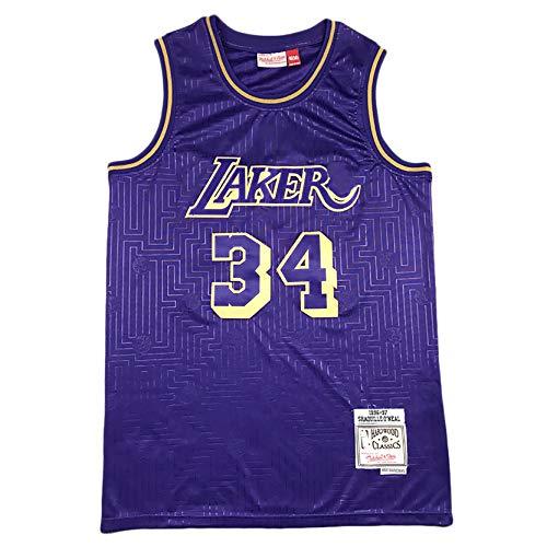 RXIRON Jersey de Baloncesto Adulto, Laker 24# Bryan 23# Little Emperor 34# O'Neal Swingman Jersey, Match Watching Partidales Jerseys styleB-M