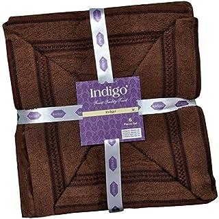 Indigo Cotton 6 Piece Towel Set