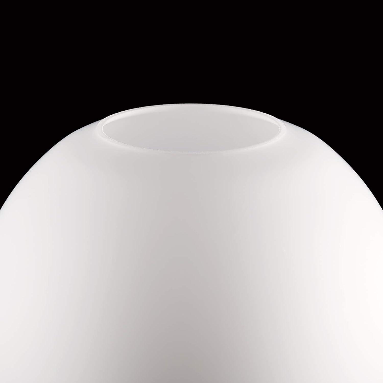 /Ø 150mm Boule de verre avec trou de nombreuses tailles Verre de lampe avec bord de poign/ée Abat-jour en verre opale blanc brillant Verre de rechange Abat-jour boule en verre bord du col Blanc.