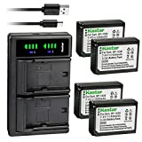 Kastar 4-Pack Battery and LTD2 USB Charger Replacement for Samsung BP-1030, ED-BP1030, BP-1130, ED-BP1130 Battery, BC-1030, BC-1030b Charger, Samsung NX200, NX210, NX300, NX300M, NX310, NX500, NX1000