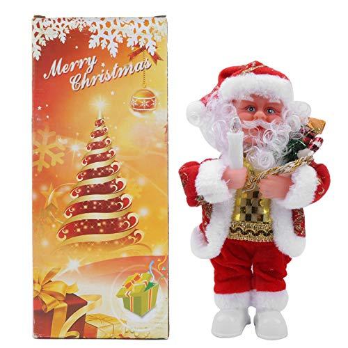 Zerodis Figura de Papá Noel, Papá Noel eléctrico de pie, Interior o Exterior, Decoraciones navideñas con Vela(L)